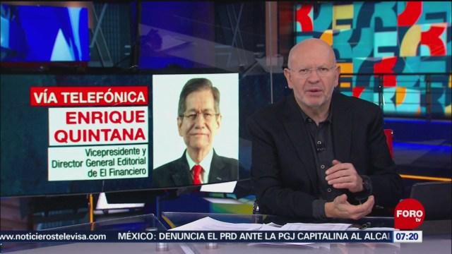 Análisis de la confianza del consumidor con Enrique Quintana