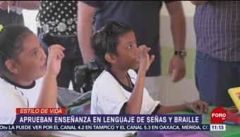 Aprueban enseñanza en lenguaje de señas y braille en Querétaro