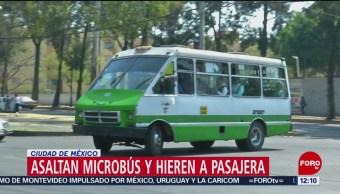 Asaltantes disparan a mujer adentro de microbús en Coyoacán