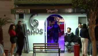 Foto: Tres sujetos con el rostro cubierto asaltan a clientes de un bar en la colonia Moctezuma Segunda Sección, 15 febrero 2019