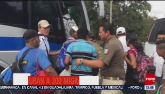 FOTO: Aseguran a 200 migrantes en Chiapas, 17 febrero 2019