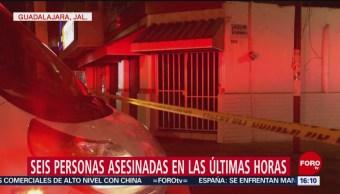 Foto: Asesinan a 6 personas en unas horas, en Jalisco