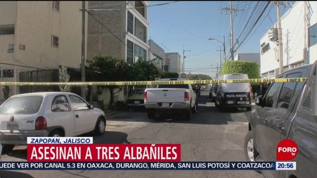 Foto: Asesinan Albañiles Zapopan Jalisco 26 de Febrero 2019