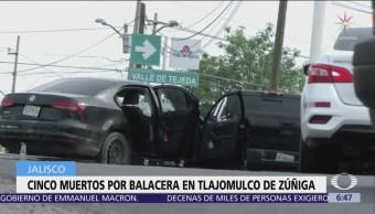 Atacan a tiros a agentes de la Fiscalía Jalisco en Tlajomulco