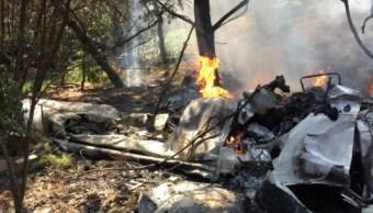 Foto: Avioneta se desploma a dos kilómetros de la pista del Aeródromo de Atizapán de Zaragoza, febrero 10 de 2019 (Notimex)