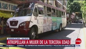 Atropellan a mujer de la tercera edad en Guadalajara