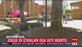 Foto: Autoridades Capitalinas Investigan Multihomicidio Iztapalapa 18 de Febrero 2019
