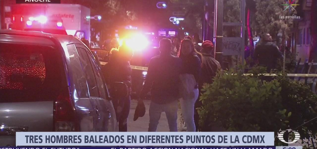 Foto: Tres hombres fueron baleados la noche del martes en diferentes puntos de la Ciudad de México