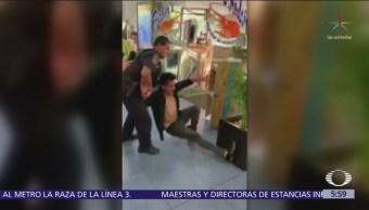 Batalla campal en restaurante de mariscos de Arboledas, Edomex