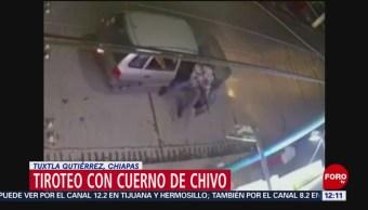 Captan en video ataque con cuerno de chivo en Tuxtla
