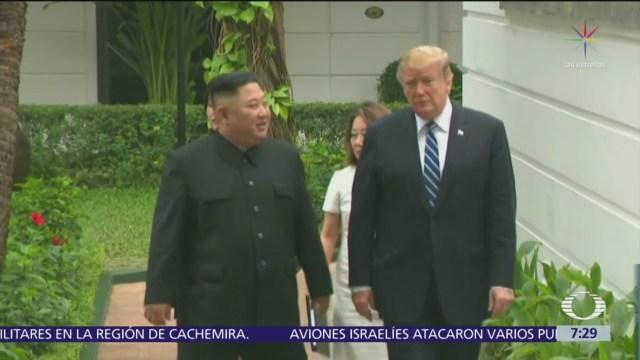 Casa Blanca: No hubo acuerdo entre Trump y Kim