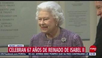 Celebran 67 años del reinado de Isabel II en Reino Unido
