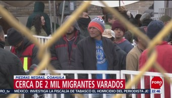 FOTO: Cerca de 2 mil migrantes varados en Piedras Negras, Coahuila, 10 febrero 2019