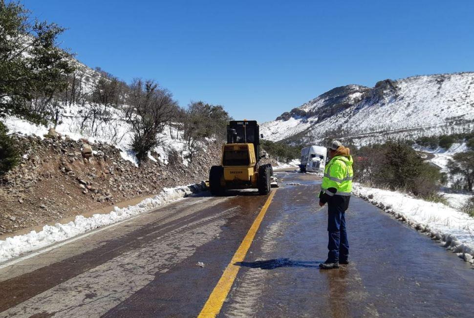 Foto: Se reportan 32 de los 67 municipios con temperaturas bajo cero y con posibilidad de aguanieve en la región montañosa de Chihuahua. (Notimex)
