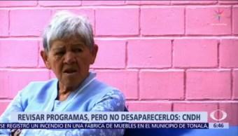 CNDH pide revisar programas para adultos mayores