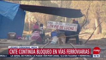 Foto: CNTE Continúa Bloqueo Vías Ferroviarias Michoacán 06 de Febrero 2019