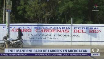 Foto: CNTE mantiene paro laboral en 88 escuelas de Michoacán