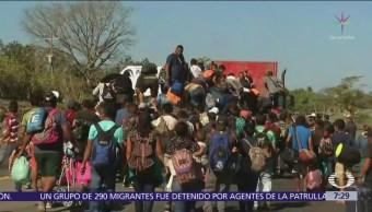 Cómo avanzan las caravanas migrantes en México