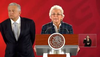 Conferencia matutina de AMLO y Sánchez Cordero 19 febrero 2019
