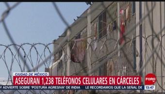 Foto: Decomisan más de mil celulares en cárceles de la CDMX