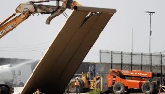 Foto: Demolición de prototipo de muro fronterizo en EU
