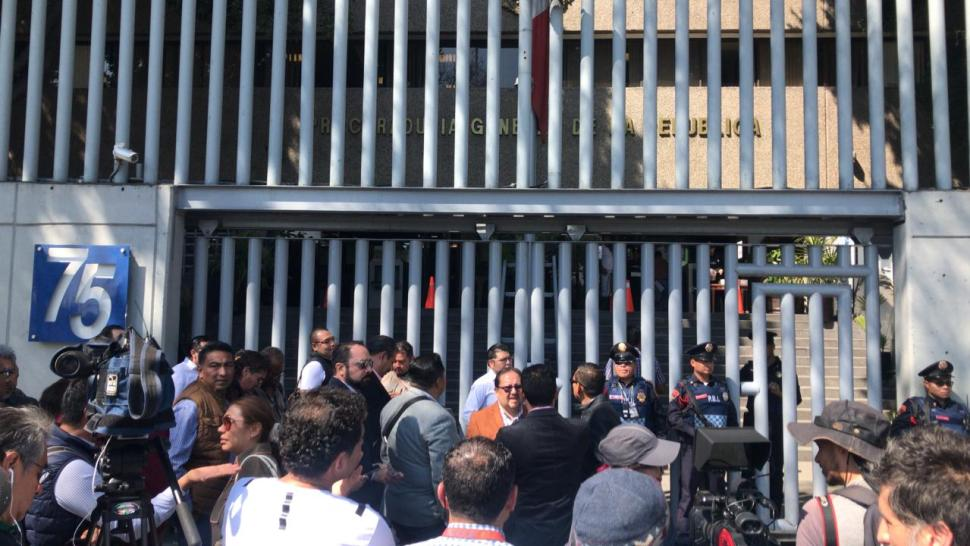 FOTO Denuncian a Romero Deschamps ante Seido por lavado de dinero cdmx 6 febrero 2019