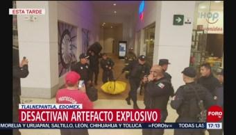 Foto: Desactivan artefacto explosivo en plaza comercial