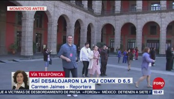 Desalojan Palacio Nacional por sismo en CDMX
