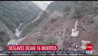 FOTO: Deslaves dejan 16 muertos en Bolivia, 4 febrero 2019