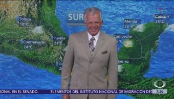 Foto: Despierta con Tiempo: Frente frío 36 provocará lluvias en el sureste