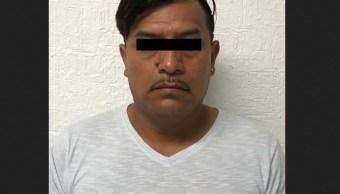 Foto: Detienen en Puebla a presunto tratante de personas, 13 de febrero 2019. Twitter @FGRMexico