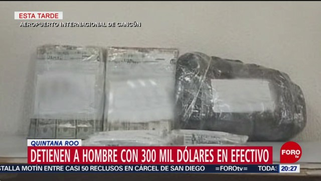 Foto: Detienen Hombre 300 Mil Dólares Quintana Roo 15 Febrero 2019