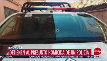 Foto: Detienen a presunto agresor de agente en Taxco