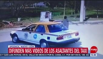 Foto: Difunden más videos de asaltantes del taxi en Apodaca, Nuevo León