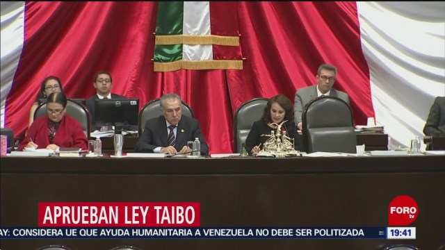 Foto: Diputados Aprueban Reformas Ley Taibo 07 de Febrero 2019