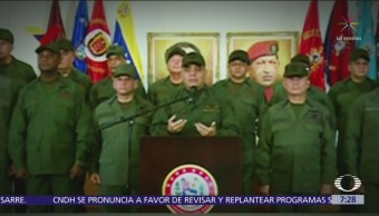 Ejército de Venezuela mantiene apoyo a Nicolás Maduro