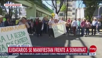 Foto: Ejidatarios de Sonora se manifiestan en la CDMX