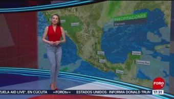 Foto: El clima con Mayte Carranco del 22 de febrero de 2019
