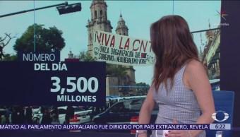 El número del día: 3 mil 500 millones