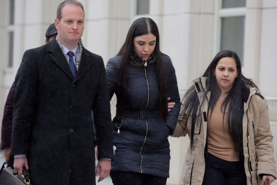 Foto: Emma Coronel, esposa de El Chapo Guzmán a su salida tras escuchar el veredicto 12 febrero 2019
