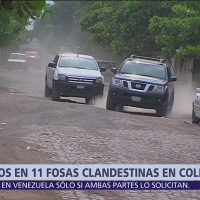 Encuentran 11 fosas clandestinas en Tecomán, Colima
