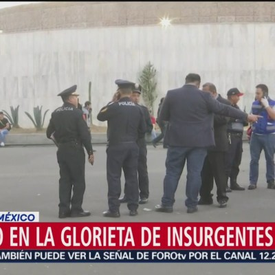 Encuentran a hombre muerto en la Glorieta de Insurgentes, CDMX