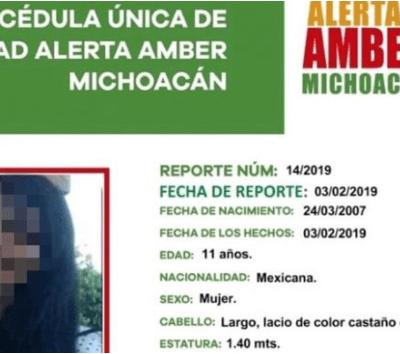 Encuentran muerta a niña desaparecida en Michoacán