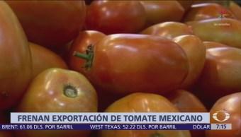 Estados Unidos se retira de acuerdo de jitomate con México