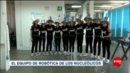 FOTO: Estudiantes mexicanos hacen robot diseñado para el espacio, 23 febrero 2019