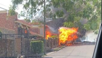 Foto: Explota pipa de gas LP en Tampico, Tamaulipas, 11 de febrero 2019. Twitter @hechoenvictoria