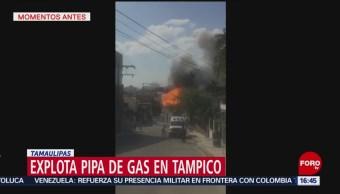 Foto: Explota pipa de gas en Tampico; hay al menos 3 heridos
