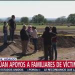 Foto: Familias de víctimas de Tlahuelilpan siguen recibiendo apoyos