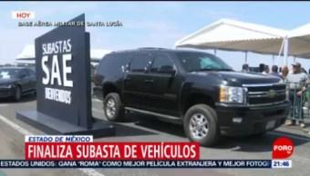 FOTO: Finaliza subasta de vehículos del Estado Mayor Presidencial, 24 febrero 2019