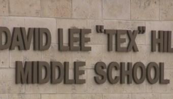 Foto: Entrada de la escuela secundaria David Lee Tex Hill